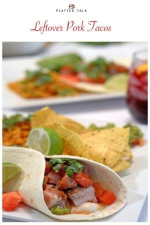 pork tacos with sangria