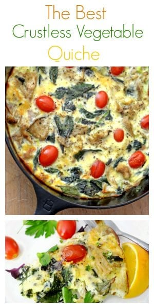 This crustless vegetable quiche recipe is with fresh ingredients and grain free and gluten free, find out today why this is the best crustless quiche recipe out there.