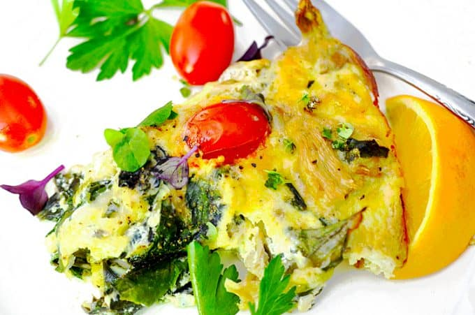 crustless vegetable quiche recipe from Platter Talk food blog
