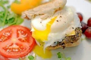 Black Bean Breakfast Sandwich