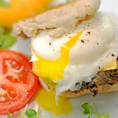 Black Bean Breakfast Sandwich – Meatless and High Protein