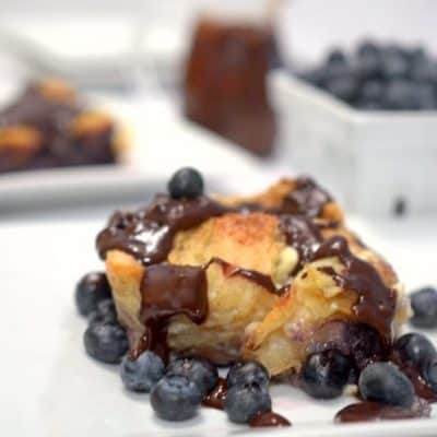 Chocolate Blueberry Bread Pudding