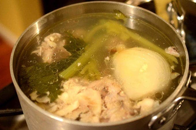 chicken stock on platter talk