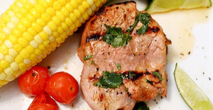 Alton Brown's Grilled Pork Tenderloin on Platter Talk