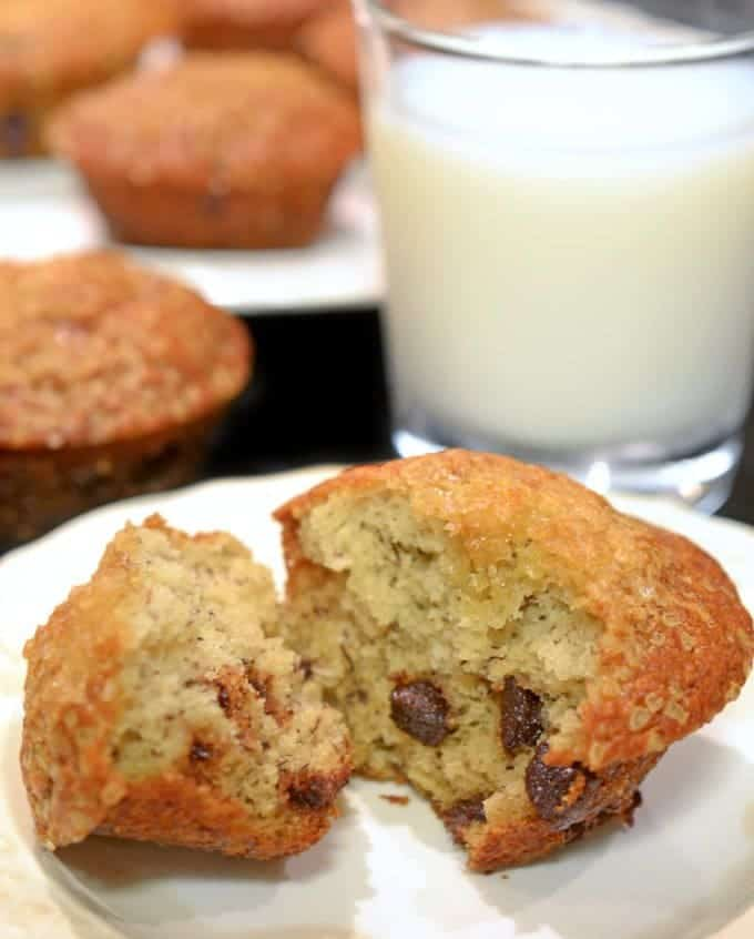 Banana Chocolate Chip Muffins from Platter Talk