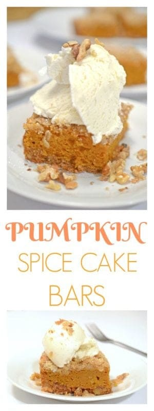 Pumpkin Spice Cake Bars Recipe
