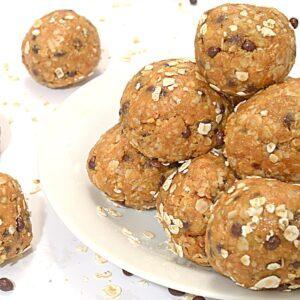 A plate of peanut butter balls