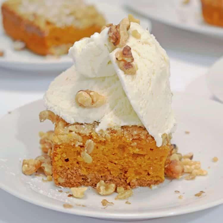 Spice Cake Pumpkin Bars Dessert Recipe From Platter Talk