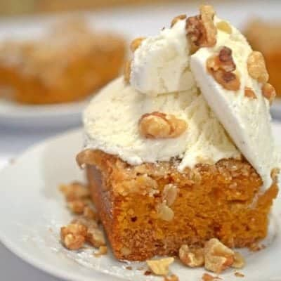 Spice Cake Pumpkin Bars from Platter Talk