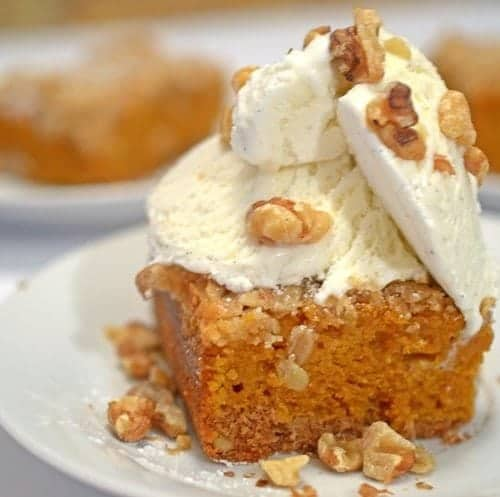 Spice Cake Pumpkin Bars from Platter Talk