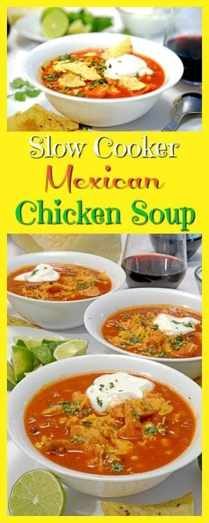 Slow Cooker Mexican Chicken Soup– When you are looking for a delicious, hardy, easy soup to make this fall, look no further than this delicious recipe from Platter Talk.