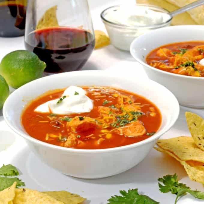 Slow Cooker Mexican Chicken Soup Platter Talk