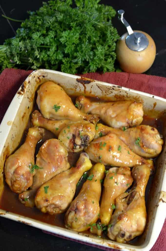 Honey Soy Chicken Legs Recipe from Platter Talk