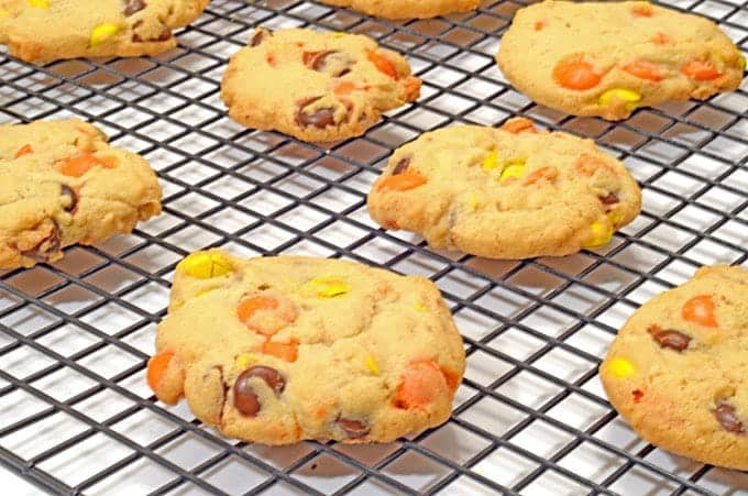 Reeses Pieces Peanut Butter Cookies-005
