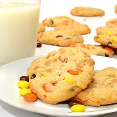 Reese's Pieces Peanut Butter Cookies Recipe from Platter Talk