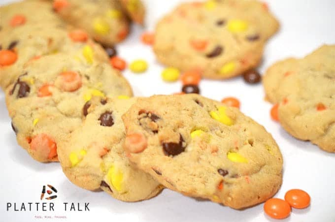 Reeses Pieces Peanut Butter Cookies Recipe from Platter Talk