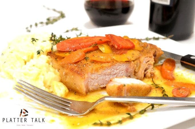 Cayenne Seared Pork Chops & Orange-Glazed Carrots - Simple Elegance