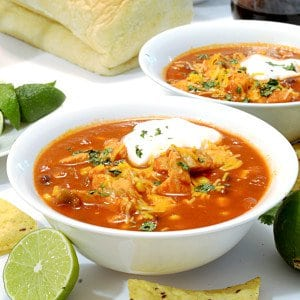 Mexican Chicken Soup on Platter Talk