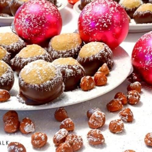Hazelnut Buckeye Holiday Treats from Platter Talk