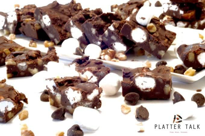 Rocky Road Fudge Recipe from Platter Talk