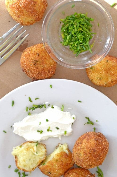 Dip your croquette in some sour cream.