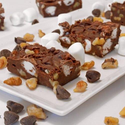 Rocky Road Fudge Recipe from Platter Talk