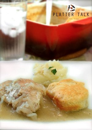 Mom's Easy Chicken and Bisucuits Recipe from Platter Talk
