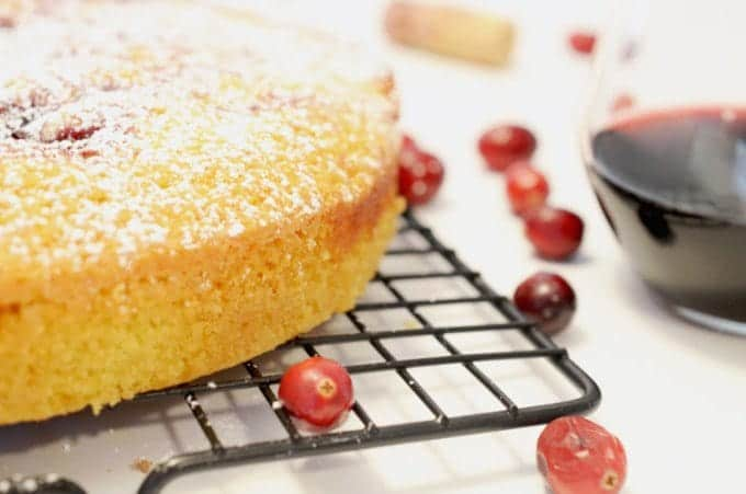 Cranberry Swirl Semolina Cake Recipe by Platter Talk
