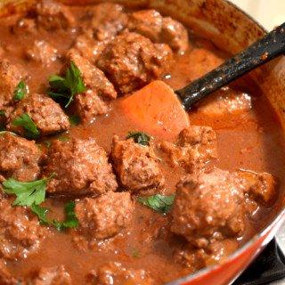 Braised Savory Meatballs Recipe by Platter Talk