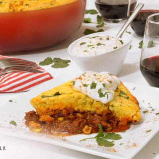 Cornbread Chili Pie Recipe from Platter Talk