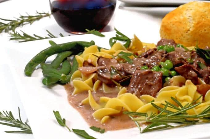 Slow Cooker Rosemary Beef Tips Recipe from Platter Talk