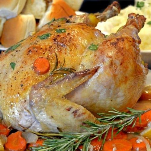 Julia Child's Lemon Herb Chicken Recipe on Platter Talk