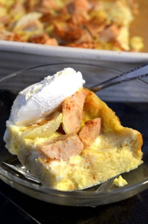 Cinnaomn Apple Pear Bread Pudding Recipe by Platter Talk