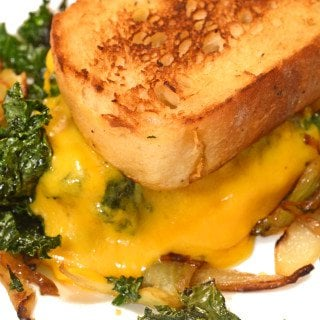 Caramelized Fennel, Onion & Kale Toasted Cheese Sandwich Recipe