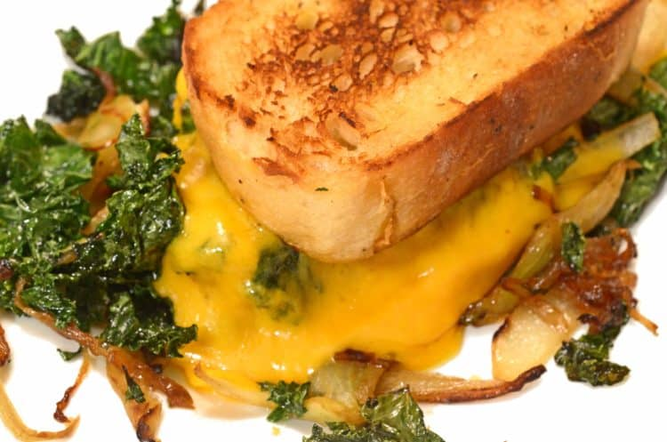 Caramelized Fennel, Onion & Kale Toasted Cheese Sandwich ...