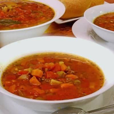 Slow Cooker Italian Hamburger Soup
