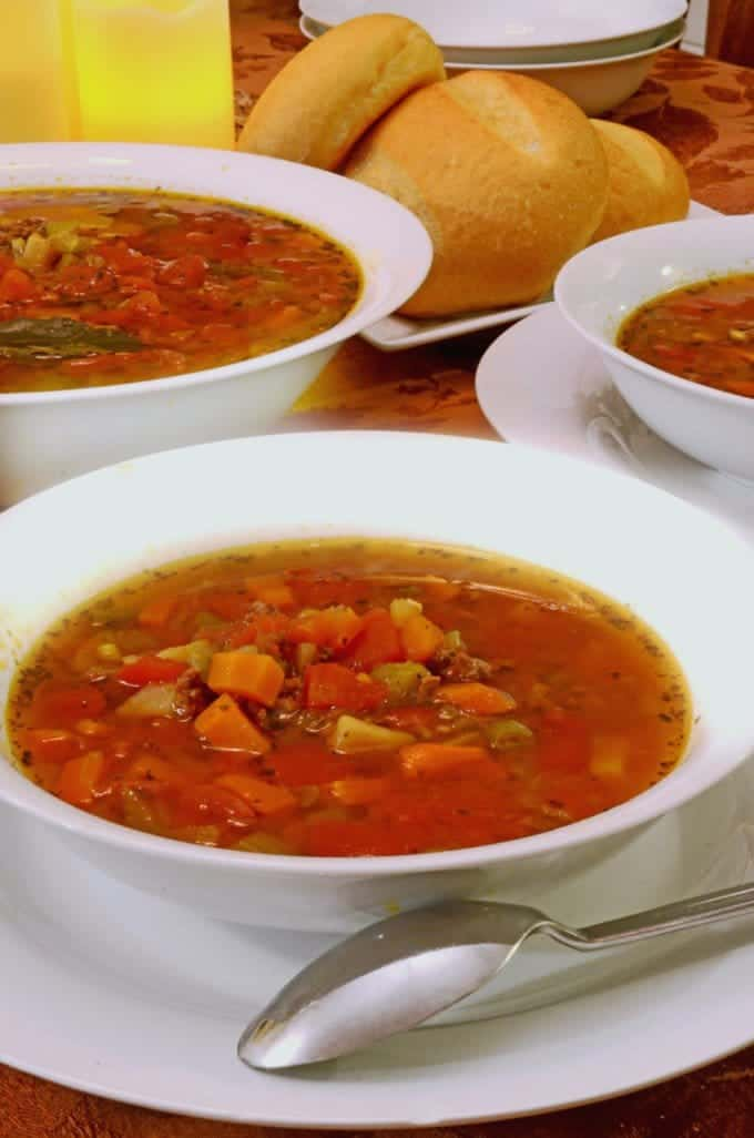 Slow Cooker Italian Hamburger Soup Recipe