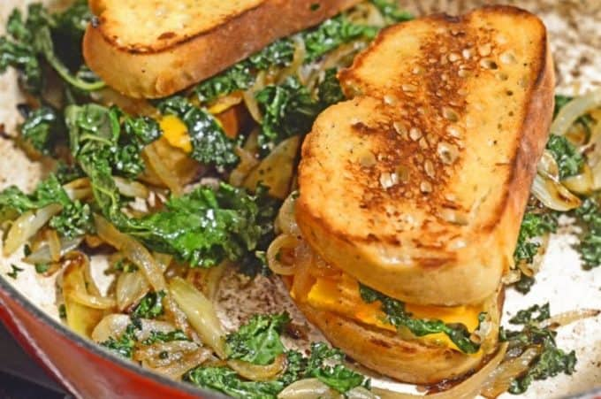 Caramelized Fennel, Onion & Kale Toasted Cheese Sandwich Recipe from ...