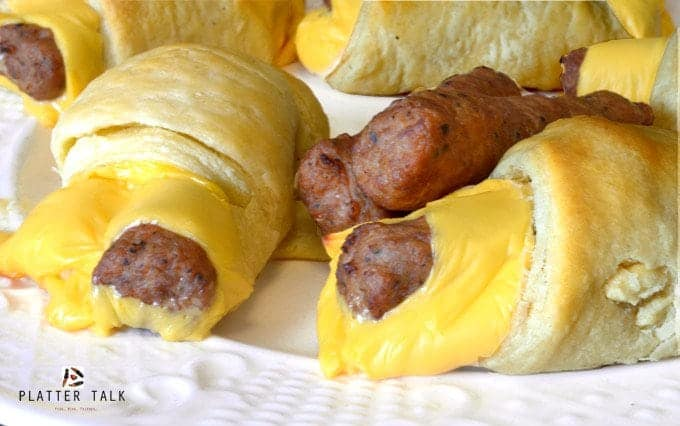 Sausage & Cheese Breakfast Roll Ups Recipe from Platter Talk