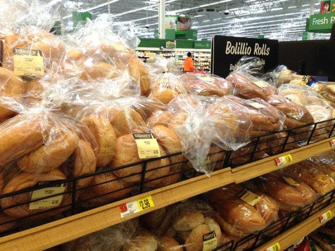 bread on store shelfs