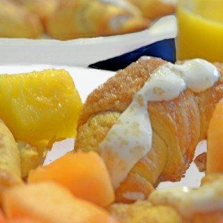 Greek Yogurt Glazed Cinnamon Croissant Rolls from Platter Talk
