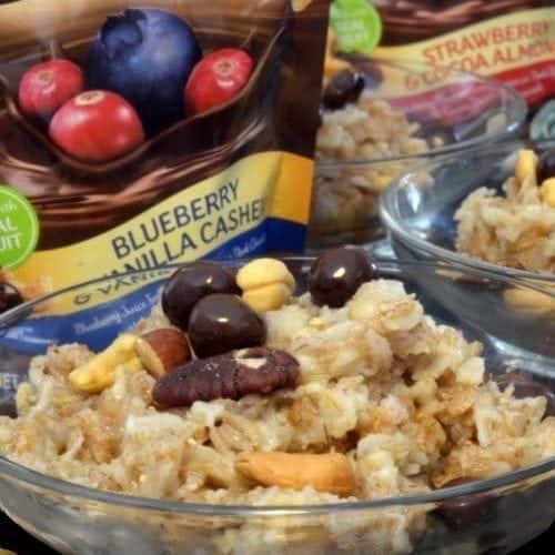 7 grain breakfast recipe on platter talk food blog.