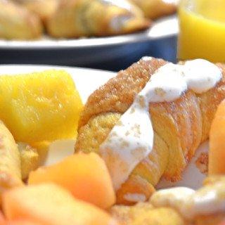 Greek Yogurt Glazed Cinnamon Croissant Rolls