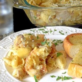 Crispy Chicken Leftovers & Shells Casserole Recipe