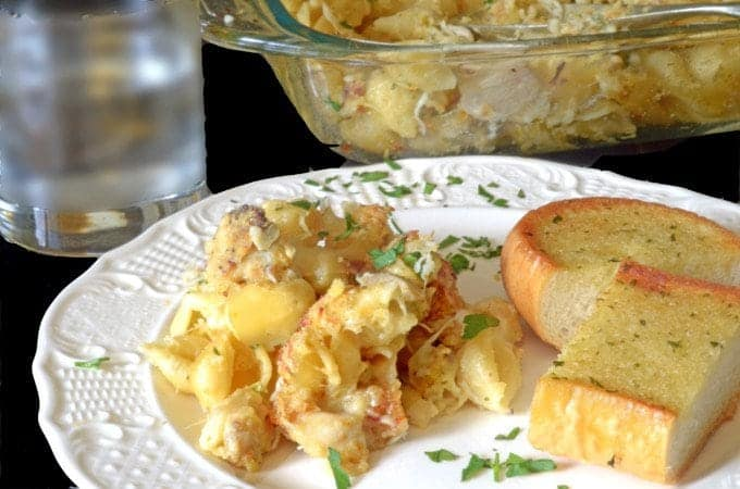 Make Leftover Chicken Casserole with leftover fried chicken.