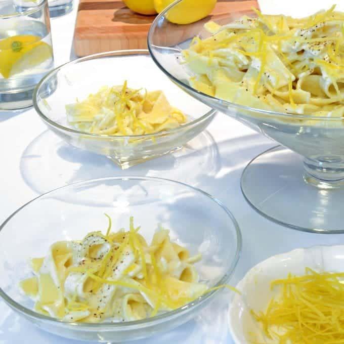 Creamy Lemon & Parmesan Noodles from Platter Talk