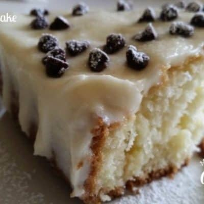 Cannoli Poke Cake Recipe on Platter Talk