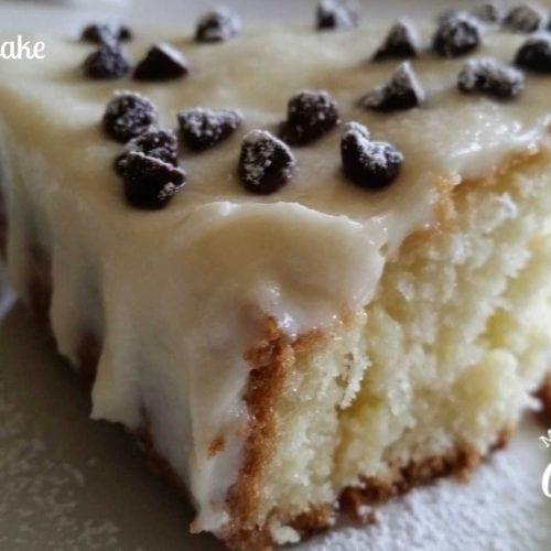 Cannoli Poke Cake Recipe on Platter Talk