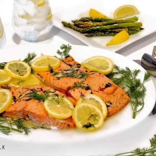 Lemon Dill Oven Roasted Salmon by Plattter Talk