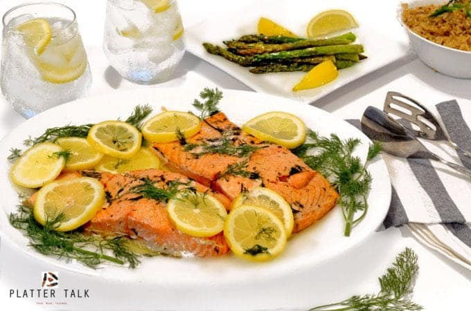 Lemon Dill Oven Roasted Salmon by Platter Talk